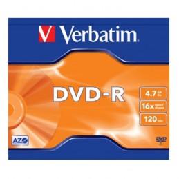 DVD-R 4,7GB / 120MIN VERBATIM ÉCRITURE 16X MATT SILVER - BUNDLE