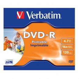 DVD-R 4,7GB / 120MIN VERBATIM ÉCRITURE 16X IMPRIMABLE INKJET PRINTABLE - BUNDLE