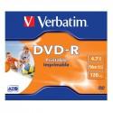 DVD-R 4,7GB / 120MIN VERBATIM ÉCRITURE 16X IMPRIMABLE INKJET PRINTABLE - JAQUETTE