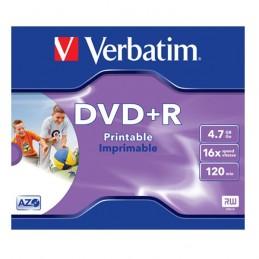 DVD+R 4,7GB / 120MIN VERBATIM ÉCRITURE 16X IMPRIMABLE INKJET PRINTABLE