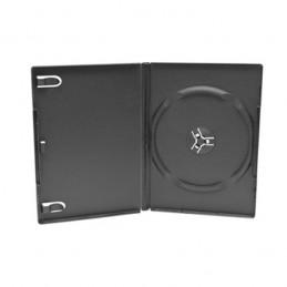 BOITIER RANGEMENT 1 CD / DVD EPAIS. 14MM NOIR 190x135x14mm