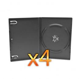 BOITIER RANGEMENT 1 CD / DVD EPAIS. 14MM NOIR 190x135x14mm - PAR 4