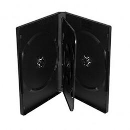 BOITIER RANGEMENT 3 CD / DVD EPAIS. 14MM NOIR 190x135x14mm