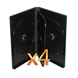 BOITIER RANGEMENT 3 CD / DVD EPAIS. 14MM NOIR 190x135x14mm - PAR 4