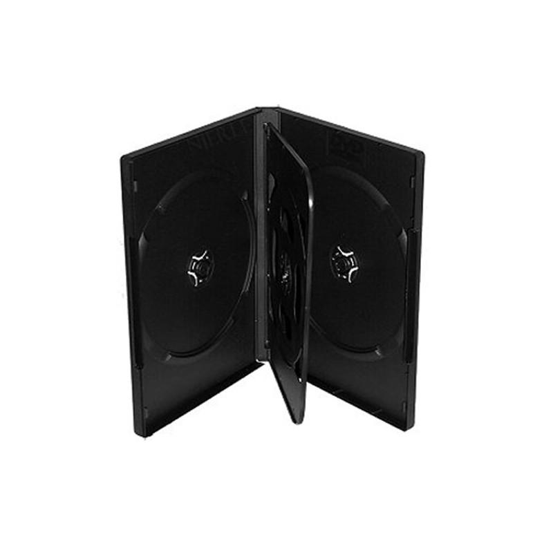 BOITIER RANGEMENT 4 CD / DVD EPAIS. 14MM NOIR 190x135x14mm
