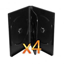 BOITIER RANGEMENT 4 CD / DVD EPAIS. 14MM NOIR 190x135x14mm - PAR 4