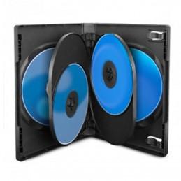 BOITIER RANGEMENT 6 CD / DVD EPAIS. 22MM NOIR 190x135x22mm