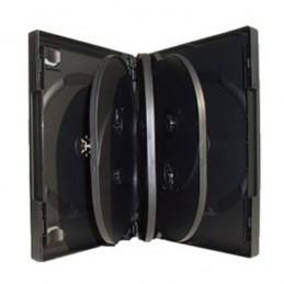 BOITIER RANGEMENT 8 CD / DVD EPAIS. 25MM NOIR 190x135x25mm