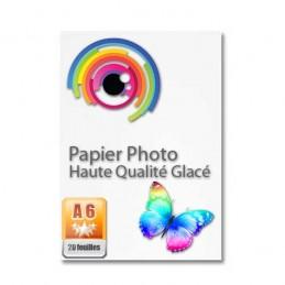 PAPIER PHOTO GLACÉ A6 (10x15) HAUTE QUALITÉ 180G/M²
