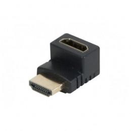 ADAPTATEUR COUPLEUR HDMI M/F COUDÉ VERTICAL 90° HAUT MALE VERS FEMELLE