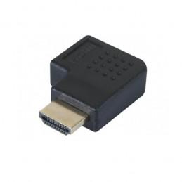 ADAPTATEUR COUPLEUR HDMI M/F COUDÉ HORIZONTAL 90° GAUCHE MALE VERS FEMELLE