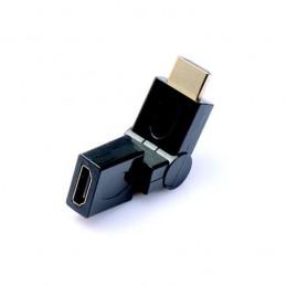 ADAPTATEUR COUPLEUR HDMI M/F COUDÉ VERTICAL HORIZONTAL 90° MALE VERS FEMELLE