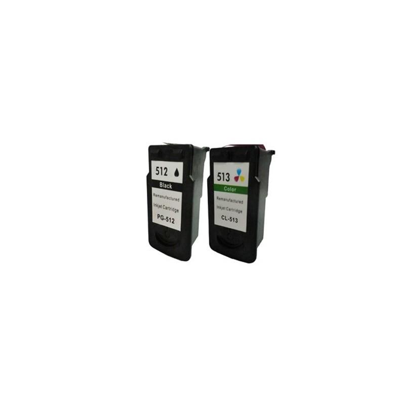 CANON PG-512 BK + CL-513 Color Compatible