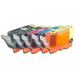 CANON PGI-520 BK + CLI-521 Multipack Compatible