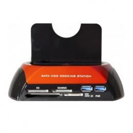 DOCK - STATION D'ACCUEIL USB 3.0 vers SATA + LECTEUR DE CARTES - VUE 1