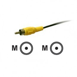 CORDON VIDEO M/M RCA 180CM NOIR - MALE / MALE - VUE 1