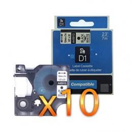 K7 DYMO D1 45013 NO-OEM S0720530 NOIR SUR BLANC COMPATIBLE A45013 - PAR 10