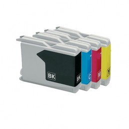 CR-LC1000PK COMPATIBLE BROTHER LC-1000 PACK BK/C/M/Y NO-OEM CART. JET D'ENCRE