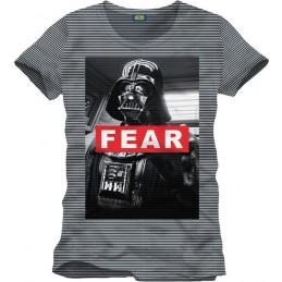 COTTON DIVISION STAR WARS T-shirt Darth Vader Fear Noir/Gris Chiné XXL