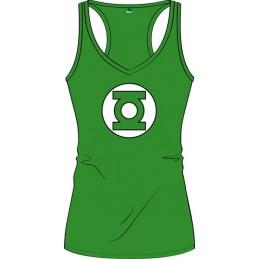 COTTON DIVISION Green Lantern Debardeur Femme Logo Vert L