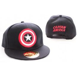COTTON DIVISION MARVEL Captain America Bouclier Noir Casquette