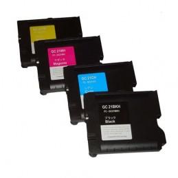 CR-GC21PK CARTOUCHES JET D'ENCRE PACK BK/C/M/Y COMPATIBLE RICOH© GC-21