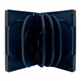 BOITIER RANGEMENT 10 CD / DVD EPAIS. 33MM NOIR 190x135x33mm