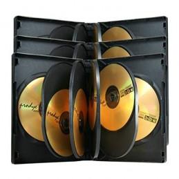BOITIER RANGEMENT 12 CD / DVD EPAIS. 38MM NOIR 190x135x38mm