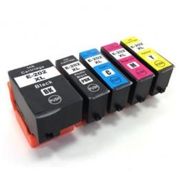 CR-T202XLPACK COMPATIBLE EPSON T202XL PACK BK/BK/C/M/Y NO-OEM 202XL CARTOUCHE JET D'ENCRE