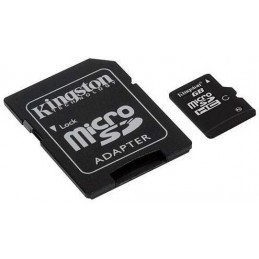 KINGSTON 8Go Micro SD Card + adaptateur - SDHC - Class 4