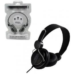 MCL Casque stéréo multimédia (sans micro) - Noir - Cable 1.2m