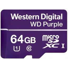WESTERN DIGITAL 64Go WD Purple mémoire Micro SDHC Classe 10 mémoire flash