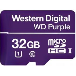 WESTERN DIGITAL WD Purple 32GB Micro SDHC Classe 10 Memoire flash
