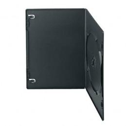 BOITIER RANGEMENT 1 CD / DVD EPAIS. 9MM NOIR SLIM 190x135x9mm