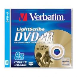 DVD+R 4,7GB / 120MIN VERBATIM ÉCRITURE 8X LIGHTSCRIBE - BOITE CRYSTAL