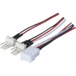Doubleur d'alimentation pour ventilateur 3 broches (3 pin) ~ 45 cm