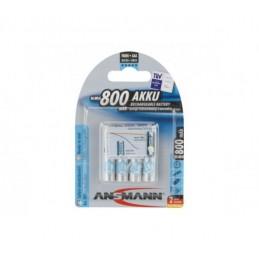 PILE BATON ACCU HR03 / AAA RECHARGEABLE 800 mAh - 1.2V ANSMANN - PACK 4 PILES