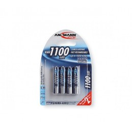 PILE BATON ACCU HR03 / AAA RECHARGEABLE 1100 mAh - 1.2V ANSMANN - PACK 4 PILES