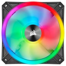 CORSAIR iCUE QL120 RGB Ventilateur boitier PC 120mm - CO-9050097-WW - vue de face
