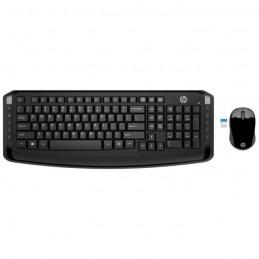 HP Pack Clavier AZERTY + souris sans fil 300 FR 2.4 GHz - 3ML04AA - Noir