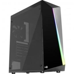 AEROCOOL Shard Boîtier PC Moyen tour Format ATX Facade RGB - vue de trois quart