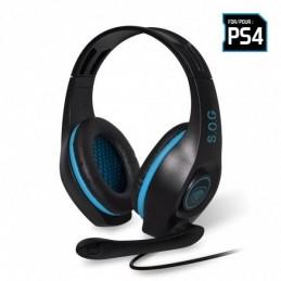 SPIRIT OF GAMER Micro-Casque Gamer PRO-SH5 pour PS4 Noir et Bleu