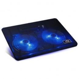 ADVANCE AirStream Noir Support ventilé PC Portable 15'' - 2 ventilateurs 125mm LED - Hub USB - vue de trois quart