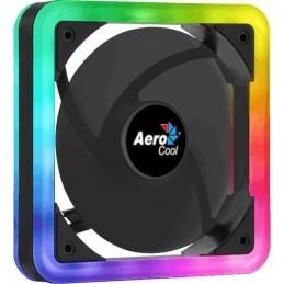 AEROCOOL EDGE 14 ARGB PWM Ventilateur pour Boîtier - 14cm - double éclairage - vue trois quart
