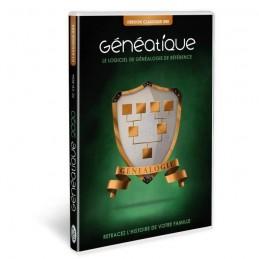 GENEATIQUE 2020 CLASSIQUE Logiciel de généalogie pour PC - vue emballage