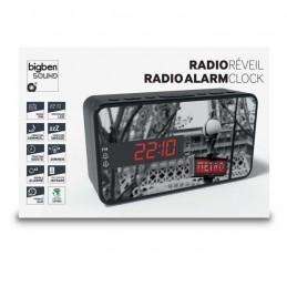 BIGBEN RR15METRO Radio-réveil - Décor métro - Sleep/Snooze