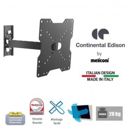 "CONTINENTAL EDISON CE200NORI12 Support TV orientable TV 22"" à 40'' VESA 200*200 - vue dimensions"