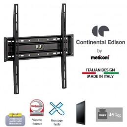 CONTINENTAL EDISON CE400FX12 Support mural fixe TV 40'' - 65'' - VESA 400x400 - 45Kg max
