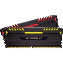 CORSAIR 16Go DDR4 Vengeance RGB (2 x 8 Go) - 2666 MHz - CAS 16 - LED RGB (CMR16GX4M2A2666C16)