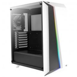 AEROCOOL Cylon PRO (RGB) Blanc TG (Verre trempé) Boîtier PC Moyen Tour Format ATX - vue de trois quart